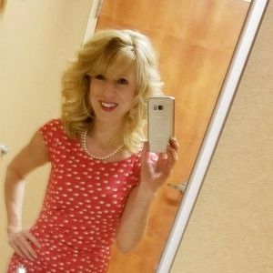 The Limited polka dot dress